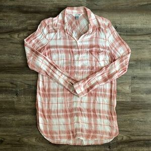 Old Navy Pink Plaid Button Down